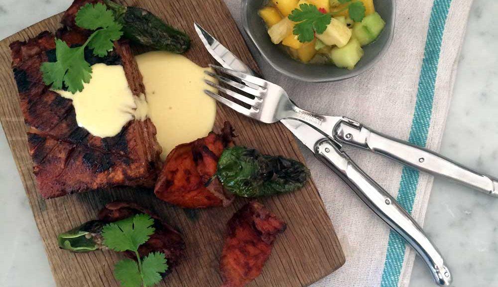 middag, grilla, recept, Jerkmarinerad, majskräm