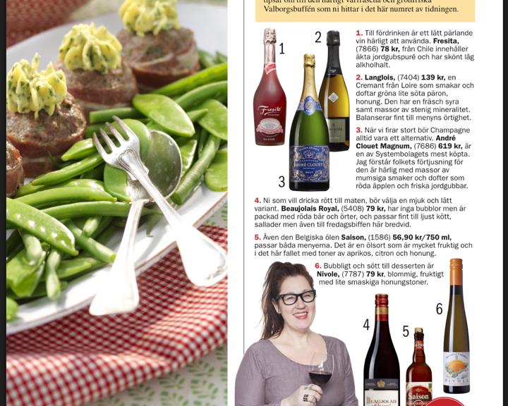 Anette Rosvall, dryckestips, Året runt, vinspalt, vinskribent