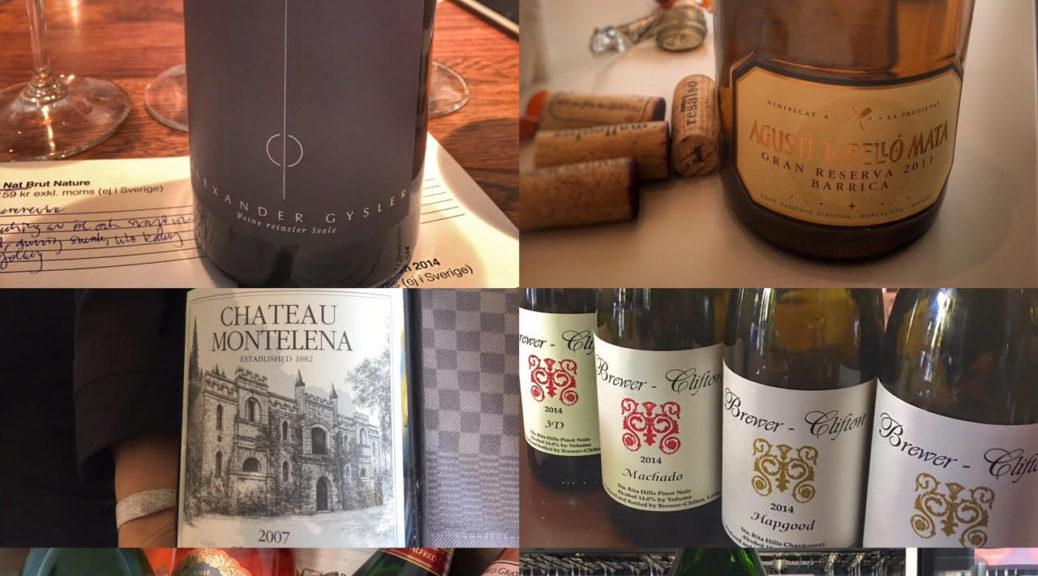 Anette Rosvall, vin, Vinprovning, maj, diverse vinflaskor