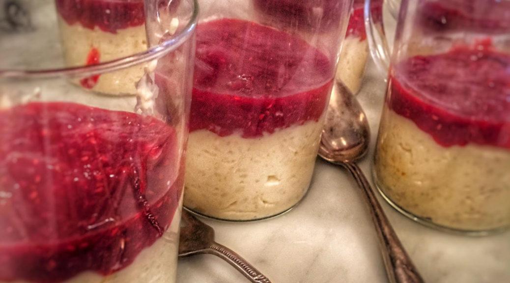 recept, anette rosvall, risgrynsmousse, hallon, jul