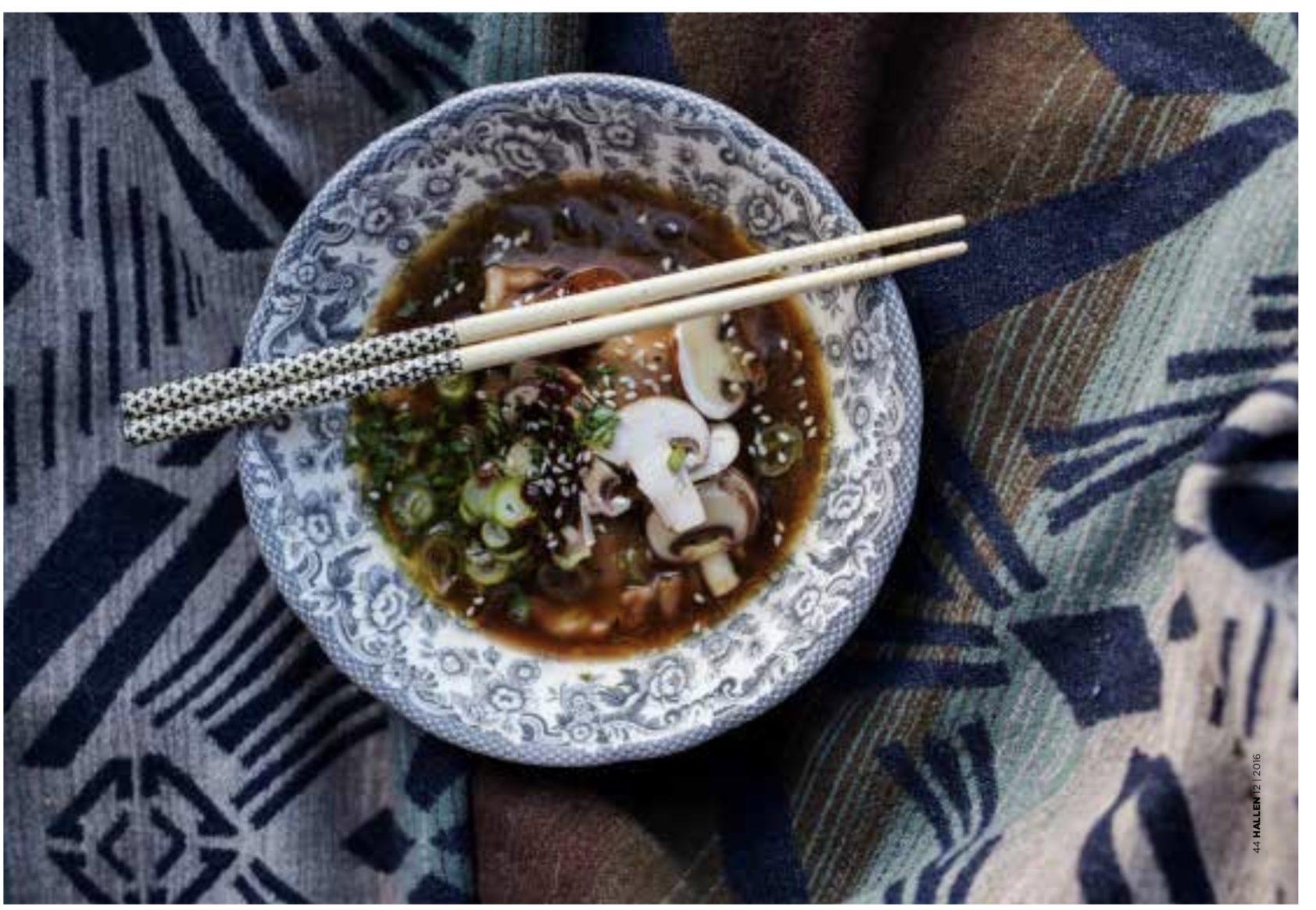 asiatiskt, recept, buljong, gomadressing, soppa