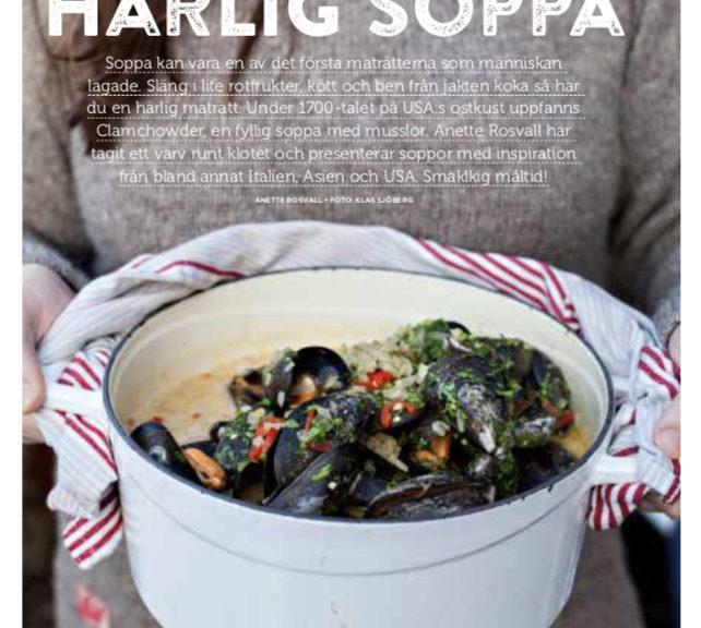 Anette Rosvall, matjobb, Clamchowder, soppa, recept