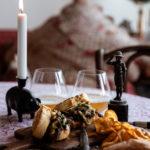 karamelliserad lök, smörgås, fransyska, steak- and onionsandwich