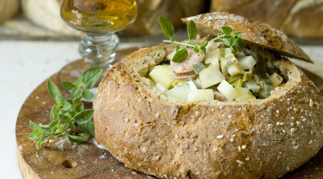 polen, soppa, bröd, öl, mat