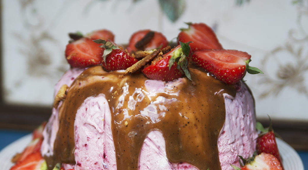 jordgubbsparfait, recept, glass, dessert, Anette Rosvall