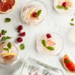 granite med rosa gin
